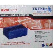 Видеосплиттер TRENDnet KVM TK-V400S (4-Port) в Перми, разветвитель видеосигнала TRENDnet KVM TK-V400S (Пермь)